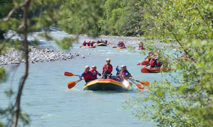 Rafting in the Lechtal valley